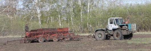 Посевная кампания на Алтае. Трактор Т-150К с сеялкой СЗП-3,6А