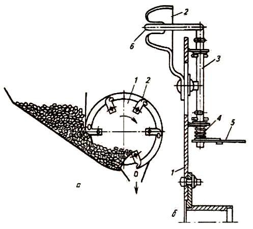 Ложечно-дисковый аппарат картофелесажалки