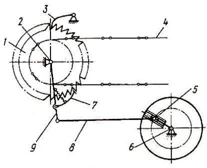 механизм привода транспортёра навозоразбрасывателя
