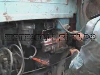 Запуск двигателя трактора МТЗ-80 видео
