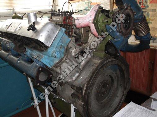 Двигатель ЯМЗ-238 Турбо фото в разрезе