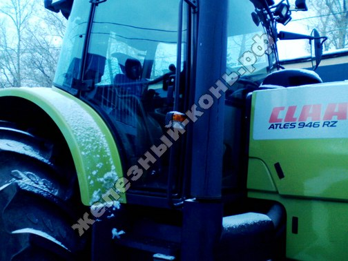 Фото с агровыставки «Алтайская Нива» (г. Барнаул). Колесный трактор Claas Atles 946 RZ