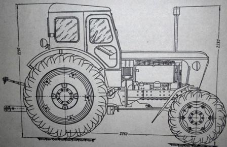 Габаритные размеры трактора Т-