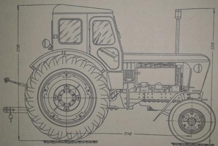 Габаритные размеры трактора Т-40