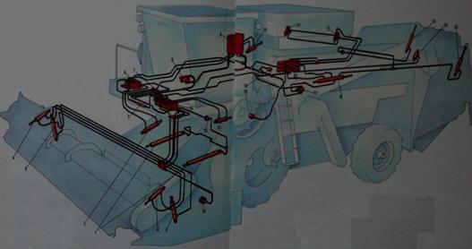 Гидравлическая система комбайна «Дон»