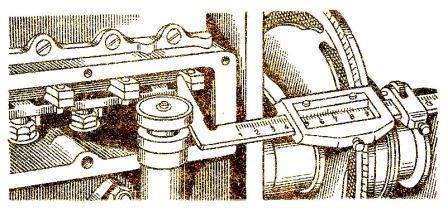 определение положения хомутика на рейке топливного насоса типа 4-ТН-8,5х10 с помощью штангенциркуля