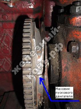 Маховик пускового двигателя