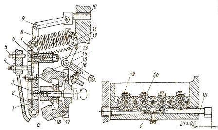 регулятор топливного насоса УТН-5 и механизм привода плунжеров