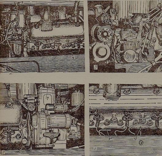 Органы управления двигателем