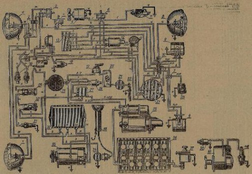 Схема электрооборудования с