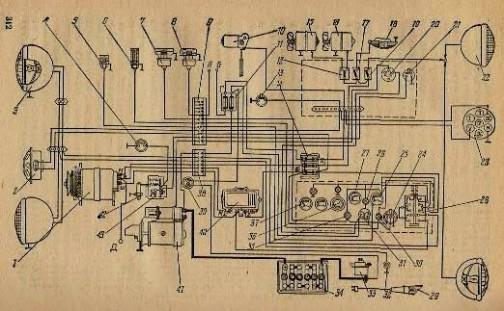Схема электрооборудования трактора Т-150