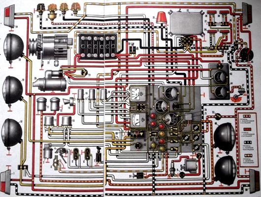 схема электропроводки мтз 80 цветная