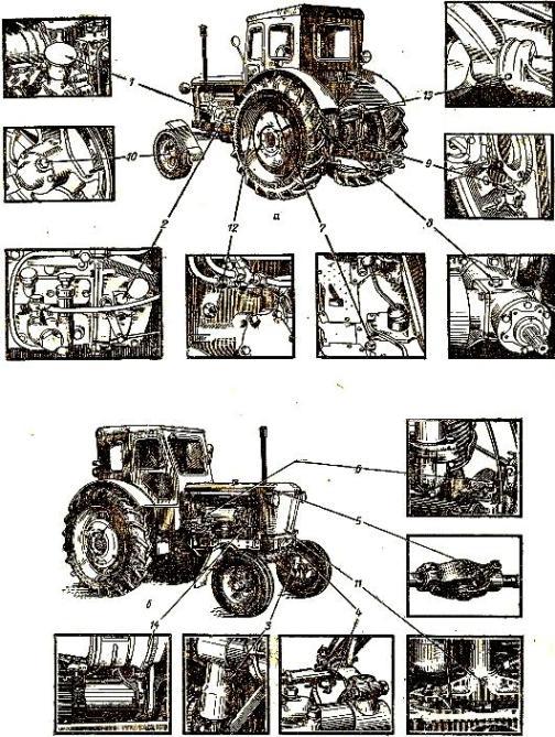 Схема смазки трактора Т-40