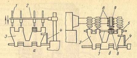 Схема восстановления проушин звена гусеницы заливкой жидким металлом
