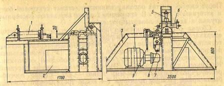Стенд для сборки гусениц тракторов тягового класса 3