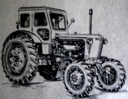 Трактор Т-40А (вид спереди справа)