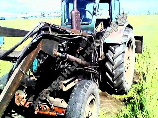 Трактор Т-40 с самодельным стогомётом фото
