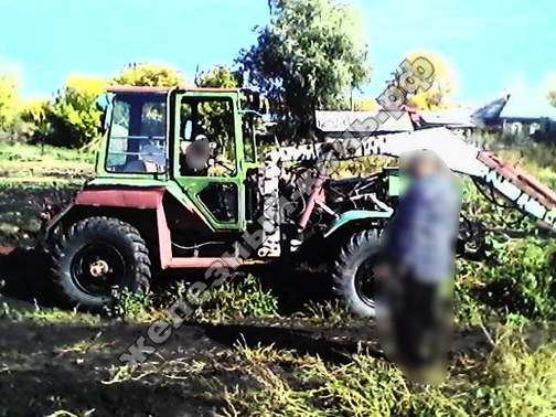 самодельный трактор на базе ЗИЛ-157 с самодельным КУНом фото