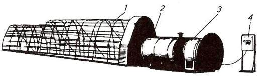 Схема установки УВС-16А для активного вентилирования сена