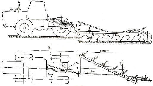 Схема работы трактора Т-150К с