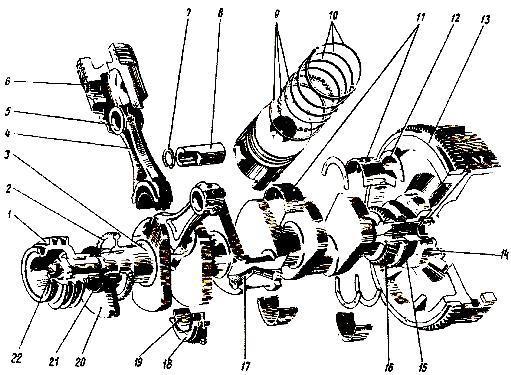 механизм двигателя СМД-66
