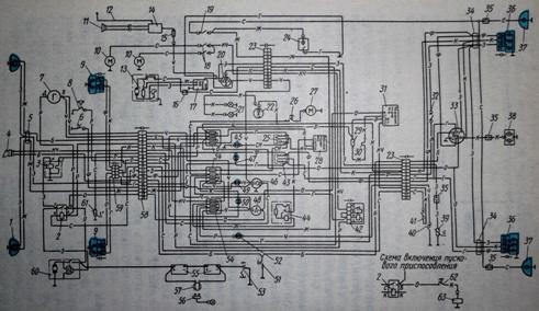 Схема электрооборудования трактора МТЗ-100, МТЗ-102