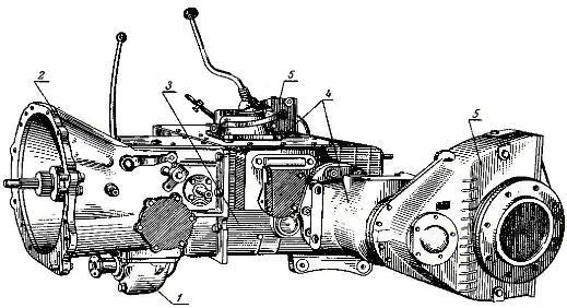 Силовая передача трактора Т-40