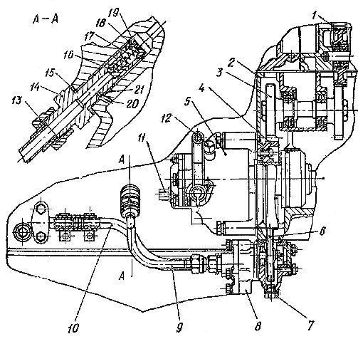 Установка насоса предпусковой прокачки системы смазки двигателя СМД-60 и СМД-62 трактора Т-150 и Т-150К
