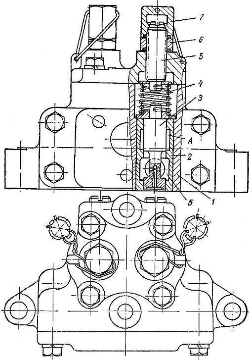 Перепускной клапан трактора Т-150