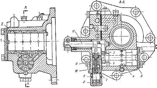 Распределитель вторичного вала КПП трактора Т-150