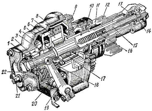 Редуктор пускового двигателя П-350 трактора Т-150 и Т-150К