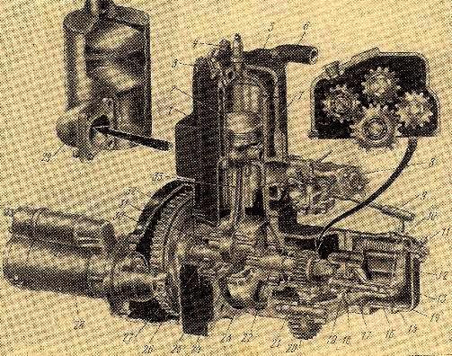 Пусковой двигатель ПД-10У трактора Т-4А