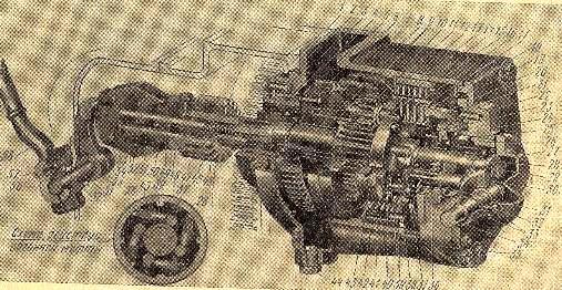 Редуктор пускового двигателя ПД-10У трактора Т-4А