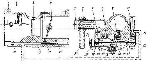 Схема карбюратора 11.1107011 пускового двигателя П-350 трактора ДТ-175С «Волгарь»