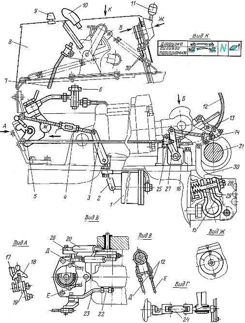 Универсальная система автоматического регулирования глубины обработки почвы трактора МТЗ-100 и МТЗ-102