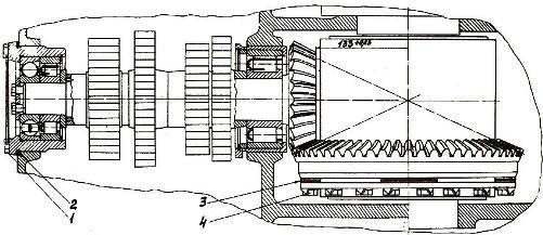 Установка шестерён конической передачи трактора ДТ-175С «Волгарь»