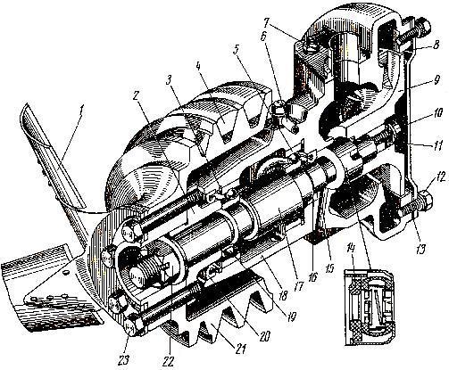 одяной насос системы охлаждения трактора ДТ-175С «Волгарь»