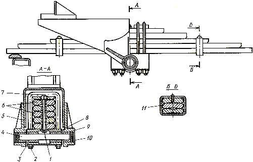Балансирное устройство ходовой части трактора Т-130М