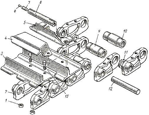 Гусеничная цепь ходовой части трактора Т-130М