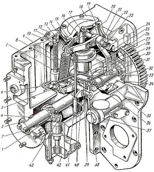Регулятор ТНВД системы питания топливом двигателя Д-160 трактора Т-130М