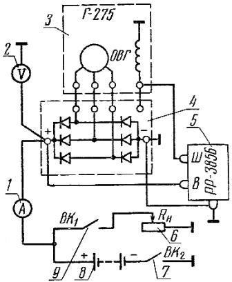 Схема соединения генератора и реле-регулятора трактора «Кировец» К-700, К-700А, К-701, К-702