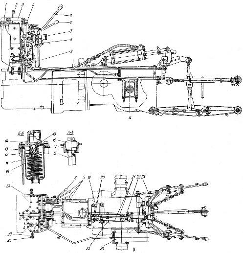 Раздельно-агрегатная гидравлическая система трактора «Беларусь» МТЗ-50, МТЗ-50Л, МТЗ-52, МТЗ-52Л