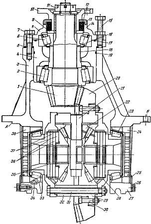 Главная передача и дифференциал колёсного трактора Т-150К