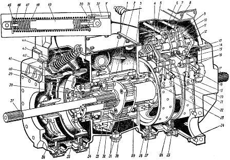 Планетарный механизм поворота (трактор ДТ-175С)