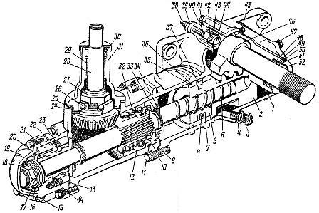Рулевой механизм автомобиля КамАЗ с гидроусилителем
