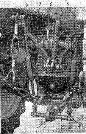 Гидрофицированный прицепной крюк (рабочее положение)